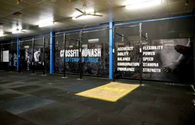 GYM BRANDING WALL GRAPHICS